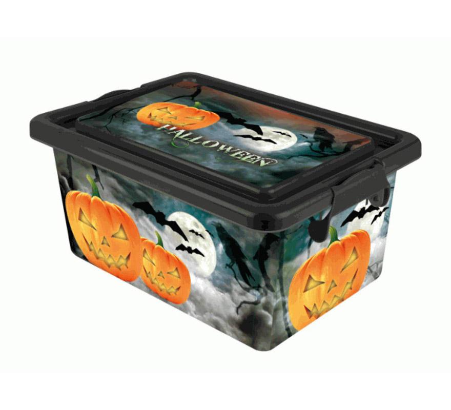 Baúl Multibox de 25 litros para Halloween. Perfecto para guardar disfraces y complementos de Halloween de un año para otro. Medidas 45x32x22cm. Capacidad 25 litros.