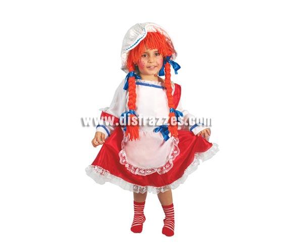 Disfraz de Pepona de 7 a 9 años. Incluye gorro con trenzas, vestido, lazos y delantal. ¡¡Compra tu disfraz para Carnaval en nuestra tienda de disfraces, será divertido!!