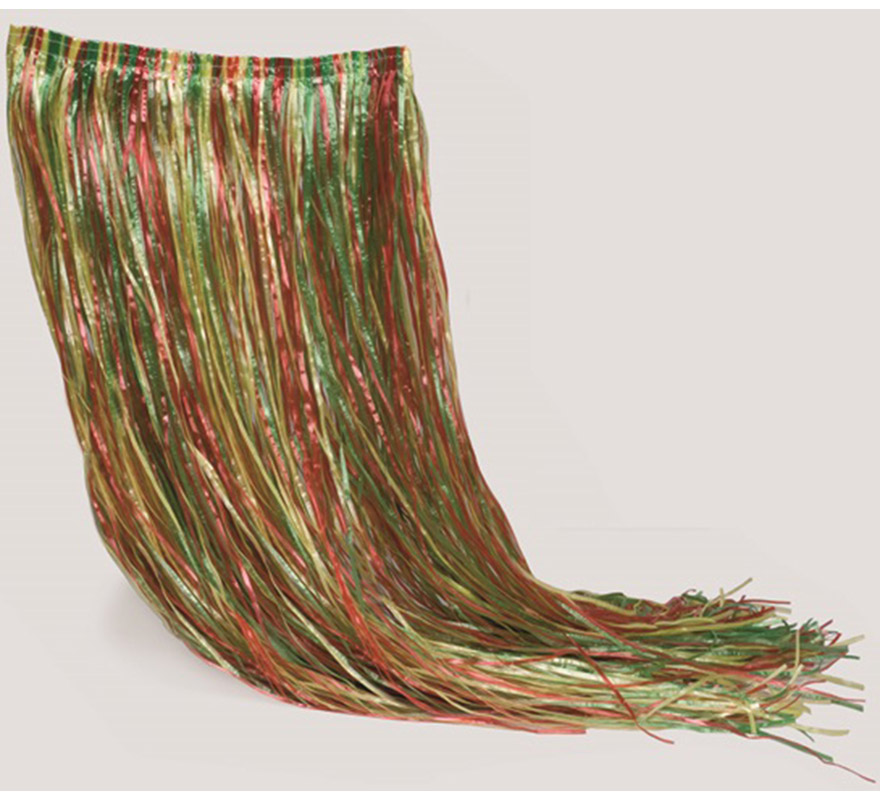 Falda Hawaiana multicolor. Perfecta para Fiestas Hawaianas sobre todo en verano.