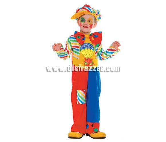 Disfraz de Payaso Baby. Talla de 2 a 4 años. Incluye gorra, pajarita y vestido. Zapatones NO incluidos, podrás verlos en la sección de Complementos.