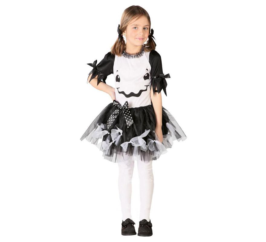 Disfraz de Fantasma Tutú para niñas de 10 a 12 años. Incluye vestido. Tejido de alta calidad.