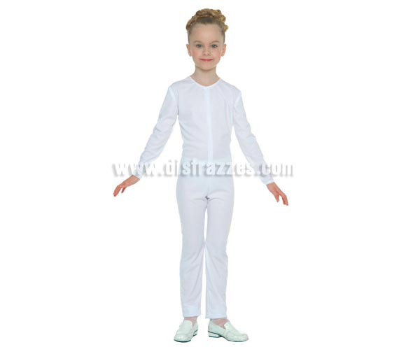 Maillot color Blanco para niños de 10 a 12 años