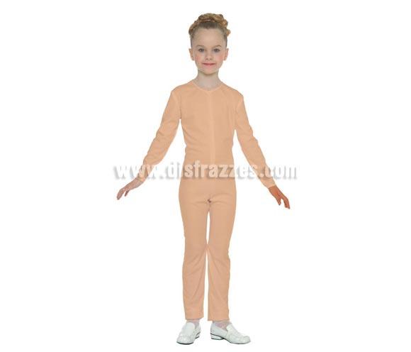 Maillot de color Carne para niños de 7 a 9 años. Ideal para ponerlo debajo del disfraz si crees que vas a pasar frío. Tejido elástico de alta calidad, se adapta al cuerpo.