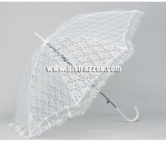 Sombrilla de Blonda 82 cm. Perfecta como complemento del disfraz de Mary Poppins y o de Época.
