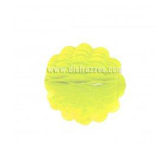 Farolillo Bola de Papel de color amarillo para decoración de Fiestas de 25 cm.