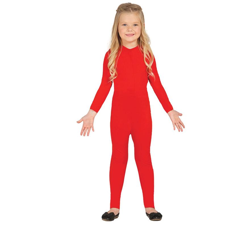 Maillot color Rojo para niños de 10 a 12 años. Ideal para ponerlo debajo del disfraz si crees que vas a pasar frío. Tejido elástico de alta calidad, se adapta al cuerpo.