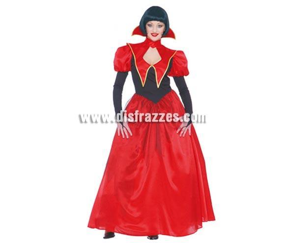 Disfraz de Vampira o Vampiresa Adulta. Talla única válida hasta la 42/44. Incluye vestido completo.