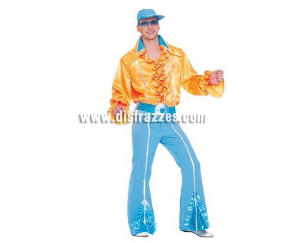 Disfraz de Años 80 Hombre Adulto. Incluye Gorra, camisa y pantalón. Talla única 52/54.