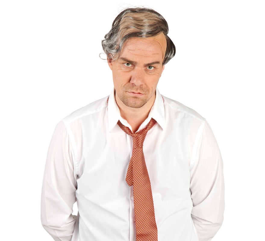 Calva con pelo de Bob. Calva con pelo de abuelo o viejo, podría valer perfectamente para disfrazarse de TORRENTE.