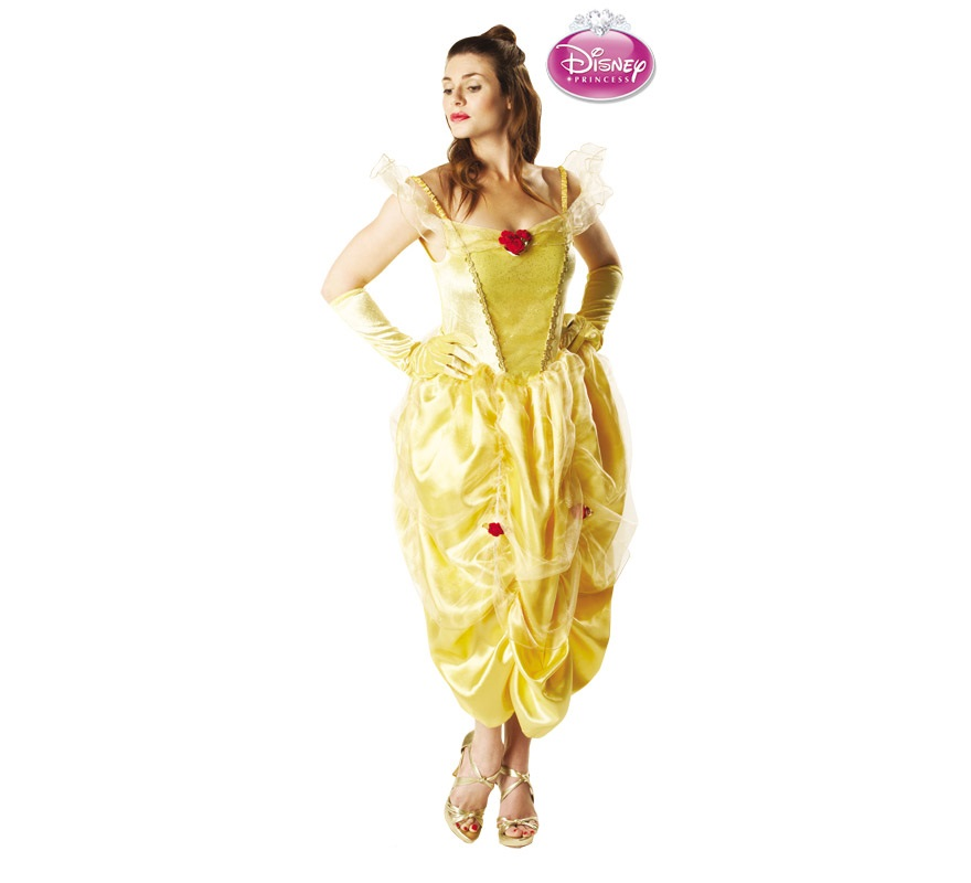 Disfraz DISNEY de La Bella y la Bestia para mujer. Talla Standar. Incluye vestido.