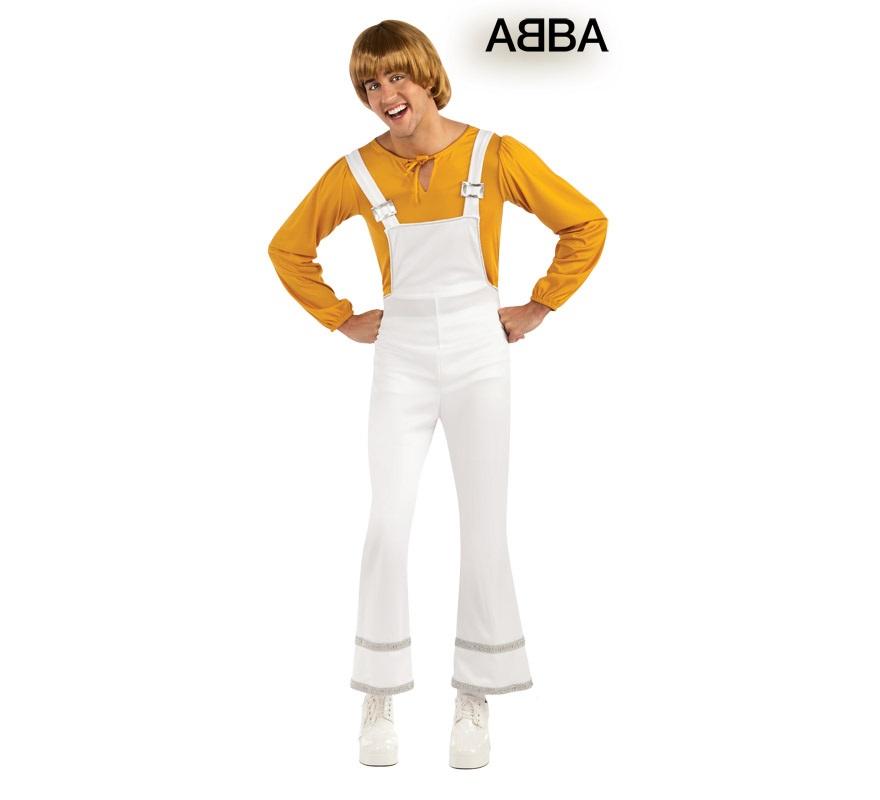 Disfraz de Bjorn cantante de ABBA para hombre. Talla Standar. Incluye jumpsuit o mono y camisa.