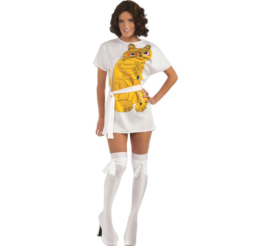 Disfraz de Anni cantante de ABBA para mujer. Talla Standar. Incluye vestido, cinturón y cubrebotas.