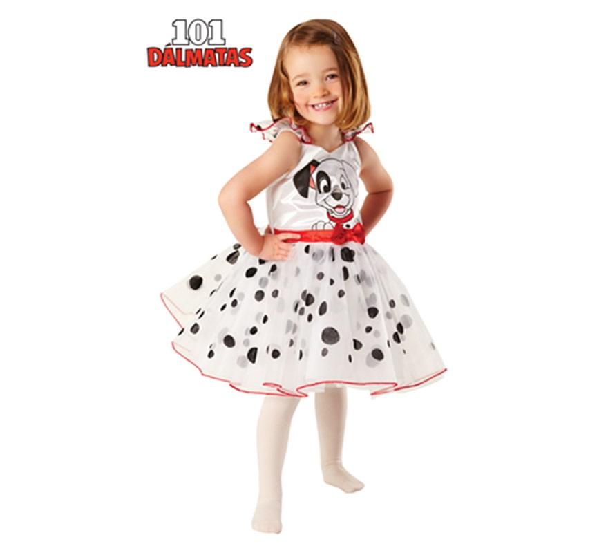 Disfraz de 101 Dálmatas Ballerina para niñas de 2 a 3 años. Incluye vestido con tutú. Disfraz de Bailarina 101 Dálmatas con Licencia ideal para regalar en Navidad.