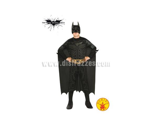 Disfraz de Batman TDK Classic para niños de 5 a 7 años. Incluye jumpsuit, cinturón, capa, máscara y 2 batarangs. Ideal para regalar en Navidad.