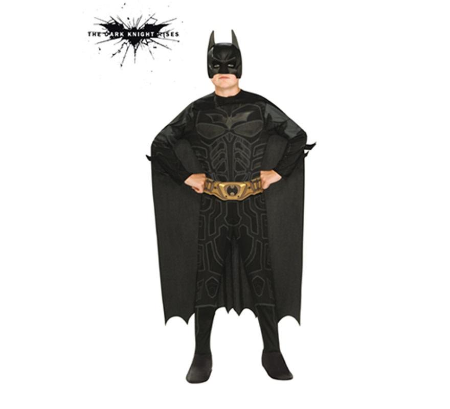 Disfraz de Batman TDK Classic para niños de 3 a 4 años. Incluye jumpsuit, cinturón, capa, máscara y 2 batarangs. Ideal para regalar en Navidad.