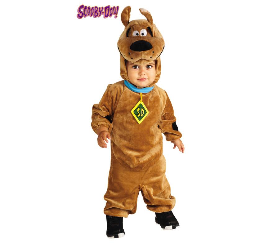 Disfraz de Scooby Doo para niños de 1 a 2 años. Incluye traje completo y gorro. Presentación en bolsa de regalo. Ideal para regalar en Navidad.