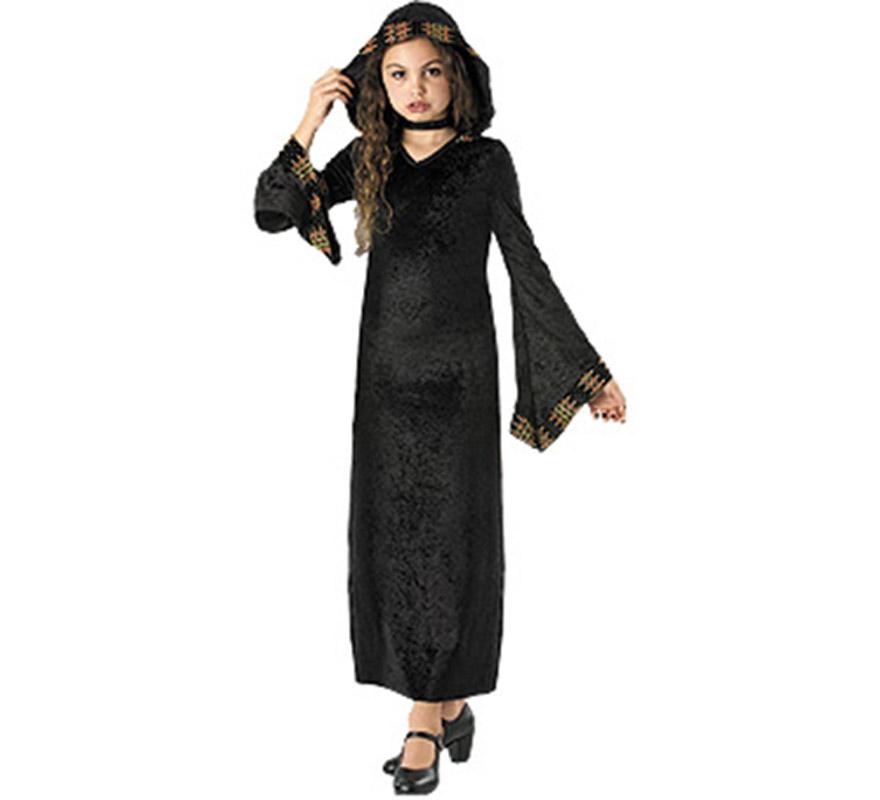 Disfraz de Reina Vampiresa infantil para Halloween. Talla de 3 a 4 años. Incluye vestido de terciopelo con capucha. De la película THE COVENANT SAGA que se estrenará éste año la misma noche de Halloween.