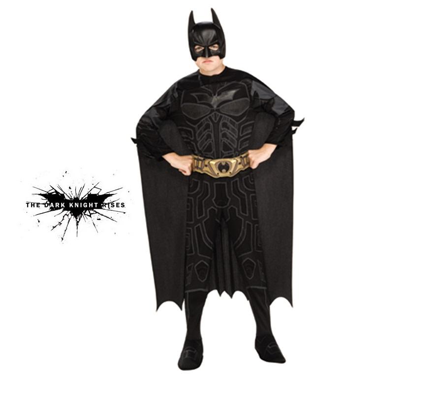 Disfraz de Batman TDK infantil para Carnavales. Talla de 5 a 7 años. Disfraz con licencia perfecto como regalo. Incluye traje completo con cubrebotas, máscara, capa y cinturón. Éste disfraz es ideal para Carnaval y para regalar en Navidad, en Reyes Magos, para un Cumpleaños o en cualquier ocasión del año. Con éste disfraz harás un regalo diferente y que seguro que a los peques les encantará y hará que desarrollen su imaginación y que jueguen haciendo valer su fantasía.  ¡¡Compra tu disfraz para Carnaval o para regalar en Navidad o en Reyes Magos en nuestra tienda de disfraces, será divertido!!