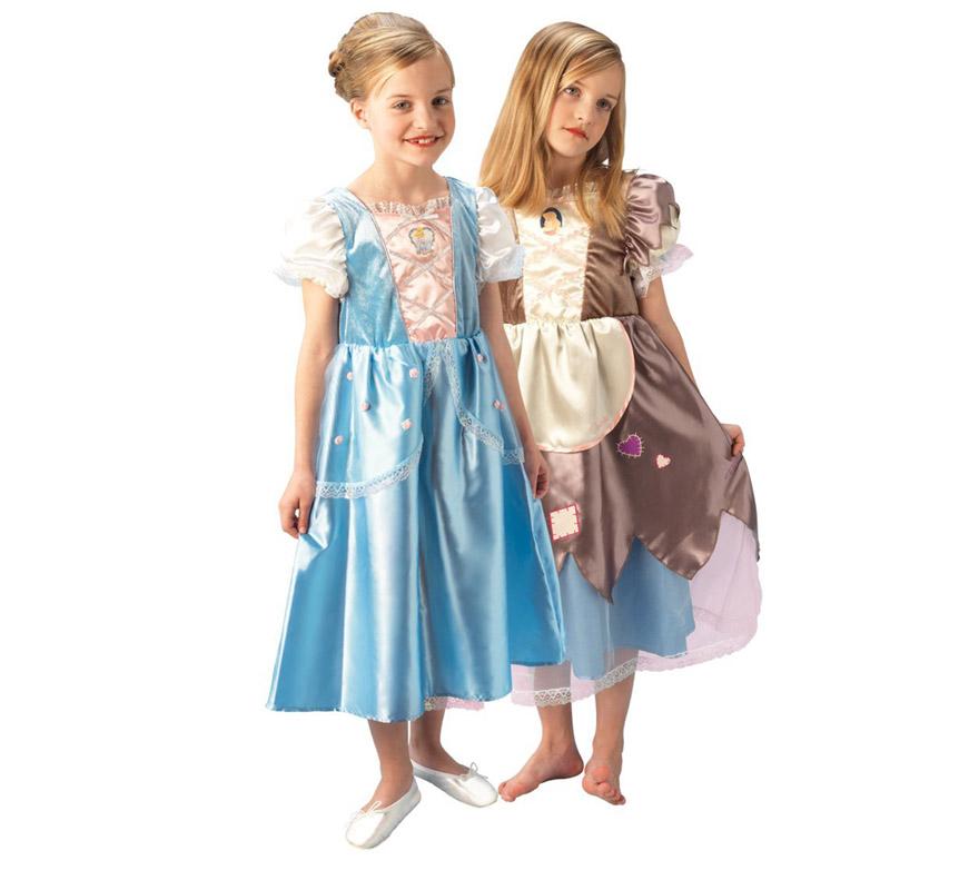 Disfraz de La Cenicienta reversible PLATINUM talla de 5 a 6 años. Incluye disfraz reversible. Disfraz con Licencia Disney ideal para regalar en Navidad y en cualquier fecha del año.
