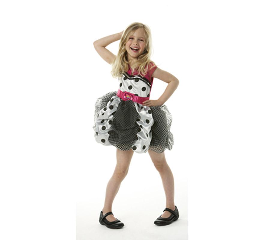 Disfraz de Hannah Montana infantil Deluxe para Carnaval o para regalo. Talla de 3 a 4 años. Incluye vestido. Disfraz con licencia perfecto para regalar. Éste traje es perfecto para Carnaval y como regalo en Navidad, en Reyes Magos, para un Cumpleaños o en cualquier ocasión del año. Con éste disfraz harás un regalo diferente y que seguro que a los peques les encantará y hará que desarrollen su imaginación y que jueguen haciendo valer su fantasía.  ¡¡Compra tu disfraz para Carnaval o para regalar en Navidad o en Reyes Magos en nuestra tienda de disfraces, será divertido y quedarás muy bien!!