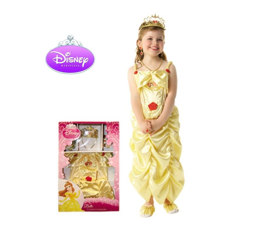 Disfraz de La Bella CLASSIC en caja con accesorios para Carnaval y para regalo de Reyes. Talla de 5 a 6 años. Incluye vestido, tiara, set de joyas y zapatos de tela. Presentación en caja regalo. Disfraz con licencia perfecto para regalar. Éste traje es perfecto para Carnaval y como regalo en Navidad, en Reyes Magos, para un Cumpleaños o en cualquier ocasión del año. Con éste disfraz harás un regalo diferente y que seguro que a los peques les encantará y hará que desarrollen su imaginación y que jueguen haciendo valer su fantasía.  ¡¡Compra tu disfraz para Carnaval o para regalar en Navidad o en Reyes Magos en nuestra tienda de disfraces, será divertido y quedarás muy bien!!