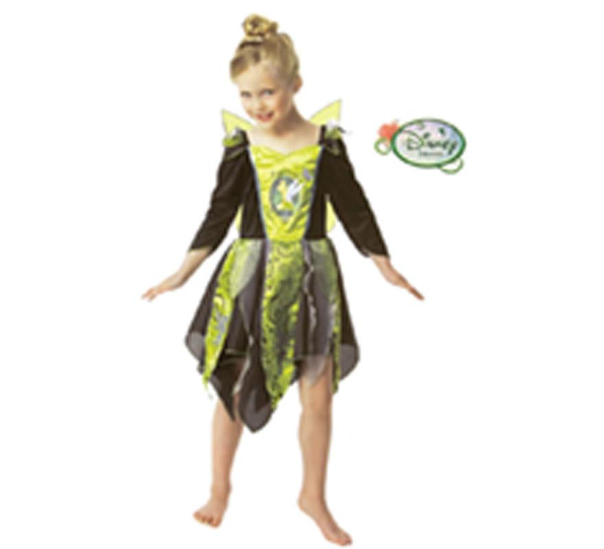 Disfraz de Campanilla para niñas de 3 a 4 años. Disfraz con licencia Disney perfecto para la noche de Halloween. Incluye vestido con alas.