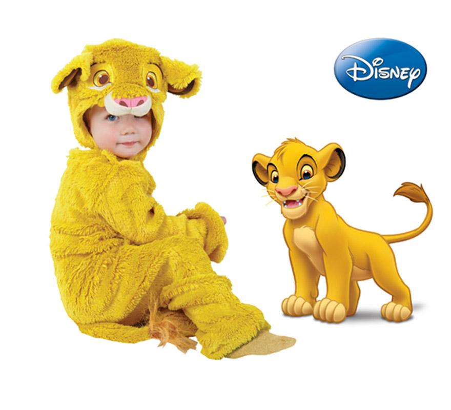 Disfraz de Simba del Rey León para niños de 2 a 3 años. Incluye Jumpsuit (mono) y gorro. Disfraz con licencia de Disney. Perfecto para regalar en Navidad o en Cumpleaños.