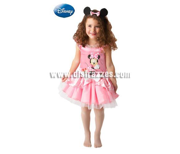 Disfraz de Minnie Ballerina para niñas de 3 a 4 años. Incluye vestido y diadema con orejas. Disfraz con licencia Disney ideal para regalar en Navidades o en cualquier ocasión del año.