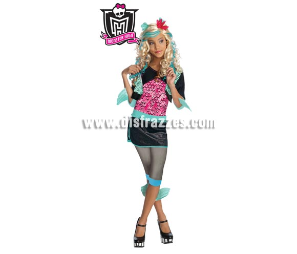 Disfraz barato de Lagoona Blue MONSTER HIGH 5 a 7 años