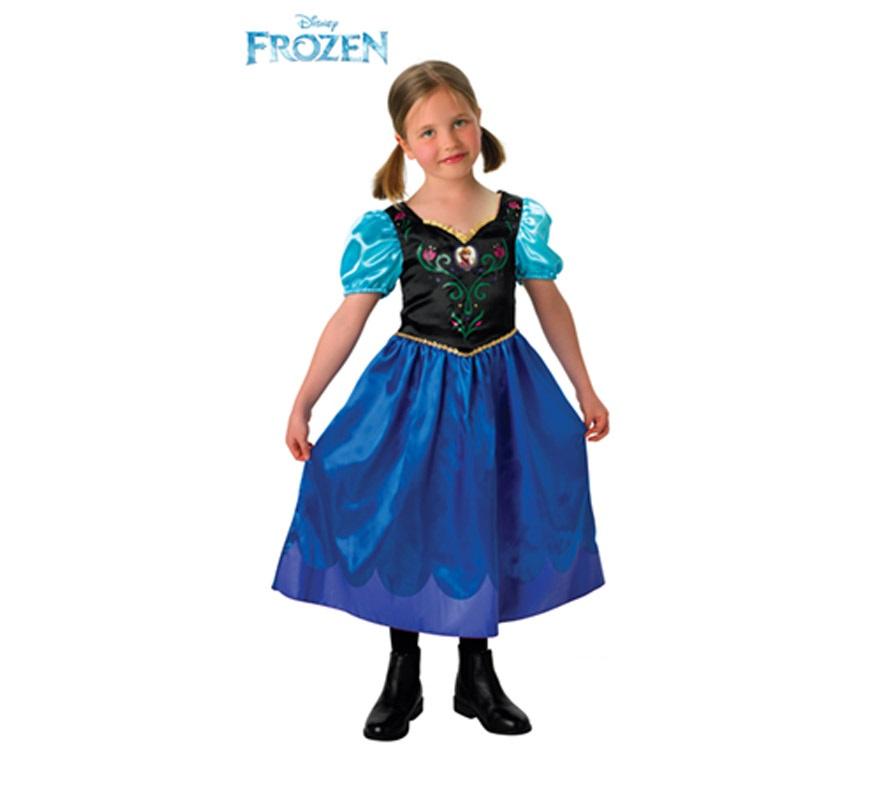 Disfraz de Anna de Frozen: El reino de Hielo para Niña de 3 a 4 años. Genuino y original disfraz de Anna, protagonista de la nueva película de Disney