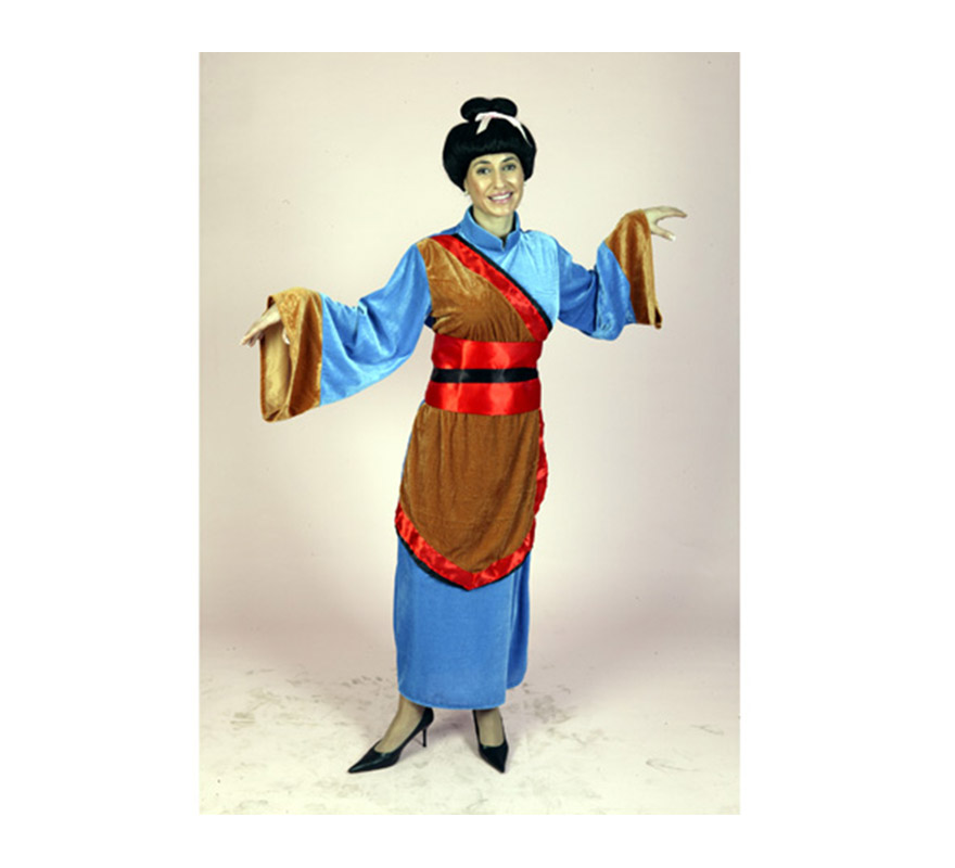 Disfraz de Japonesa adulta. Talla Standar M-L = 38/42. Incluye vestido y cinturón. Peluca NO incluida, podrás verla en la sección Pelucas. Disfraz de Geisha para mujer.