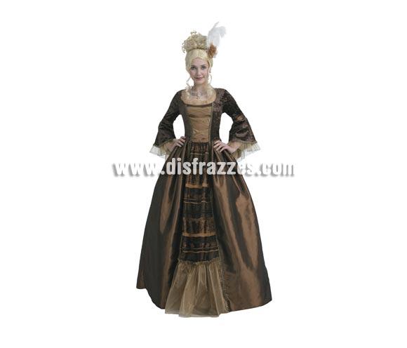 Disfraz de Reina Medieval de Lujo para mujer. Talla standar M-L = 38/42. Incluye vestido y tocado. Peluca NO incluida. Éste traje Medieval de mujer es ideal para celebrar las Fiestas o Ferias Medievales. También se usa bastante en Halloween.