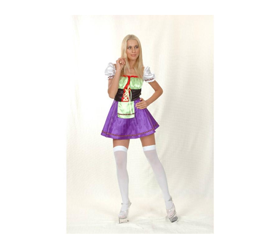 Disfraz de Chica de la Cerveza adulta. Disfraz de Tirolesa Sexy. Talla Standar M-L = 38/42. Incluye vestido, medias NO incluidas.