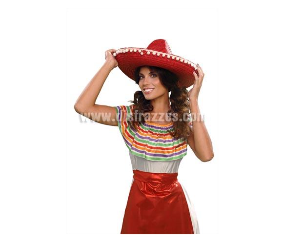 Sombrero Mejicano con Madroños para Carnaval. Colores surtidos.