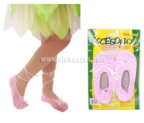 Zapatillas de Bailarina para niñas. Medida 17 cm.