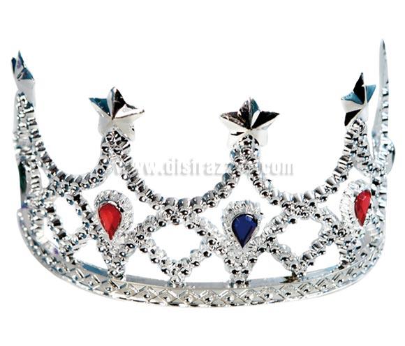 Diadema o Tiara de princesa con piedras de colores.