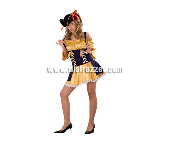 Disfraz de Bucanera Sexy adulta. Disfraz de Pirata Sexy. Talla Standar M-L = 38/42. Incluye gorro y vestido. Disfraz de Pirata Sexy para mujer.