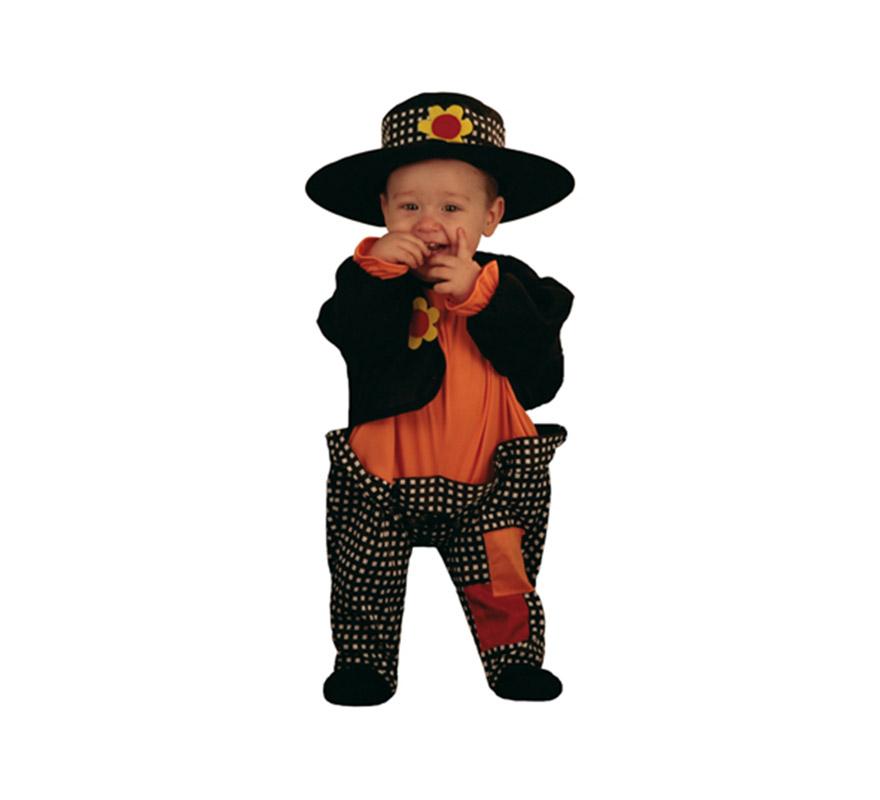 Disfraz de Vagabundo Bebé. Talla de 6 a 12 meses. Incluye gorrito y body completo.