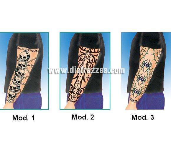 Tatuajes Góticos brazo completo. Tres Modelos surtidos. Precio por unidad, se venden por separado.