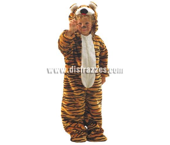 Disfraz de Tigre para niños de 1 a 3 años. Incluye mono con capucha. Un disfraz muy calentito para Carnaval.