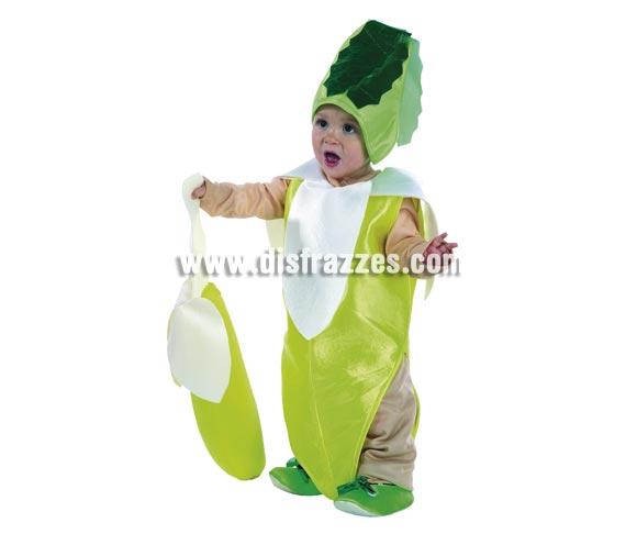 Disfraz de Bebé Plátano para niños de 1 a 3 años. Incluye pantalón, camiseta, cuerpo y tocado.