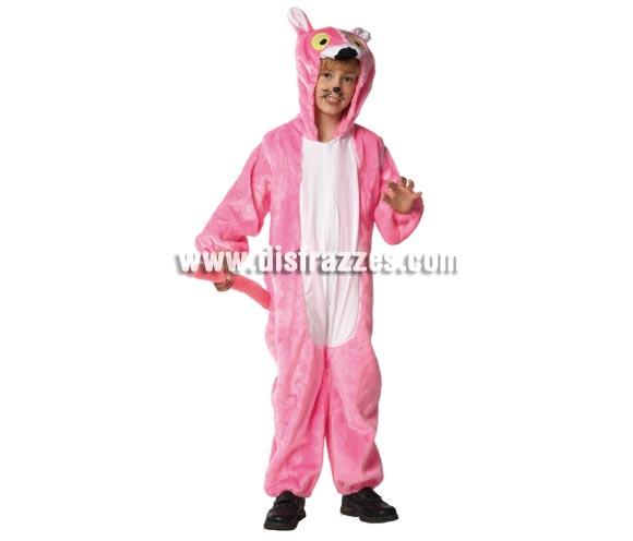 Disfraz de Pantera para niños de 1 a 3 años. Incluye mono con capucha. Un disfraz muy calentito para Carnaval.