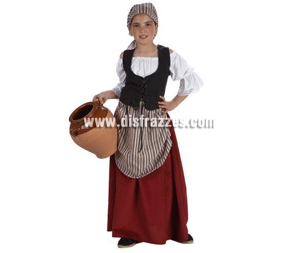 Disfraz de Mesonera para niñas de 3 a 5 años. Disfraz de Tabernera, Posadera o incluso de Pastorcilla para niñas.