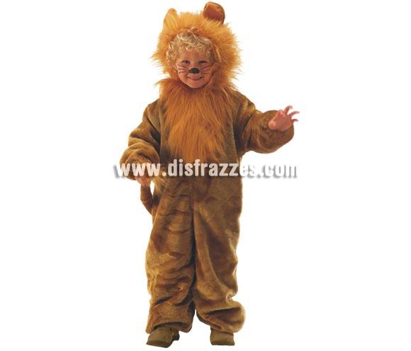 Disfraz de León para niños de 3 a 5 años. Incluye mono con capucha. Un disfraz muy calentito para Carnaval.