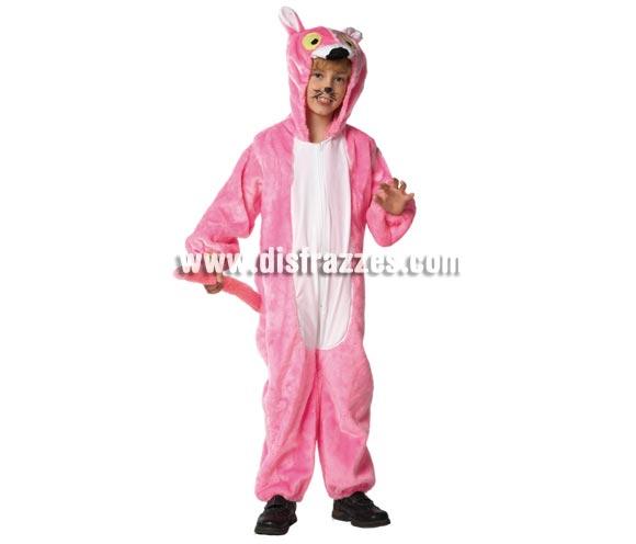 Disfraz de Pantera para niños de 5 a 7 años. Incluye mono con capucha. Un disfraz muy calentito para Carnaval.