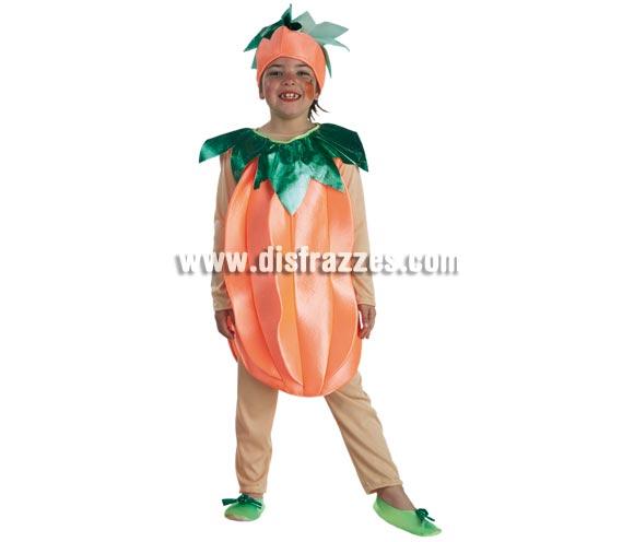 Disfraz de Calabaza para niños de 3 a 5 años. Incluye pantalón, camiseta, cuerpo y tocado.