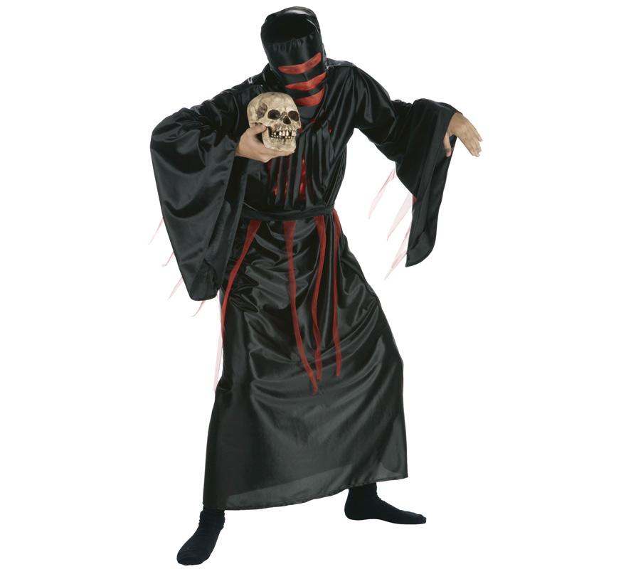 Disfraz de Zombie sangriento para hombre. Talla única de hombre. Incluye túnica con capucha y cinturón.