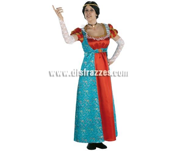 Disfraz de Josefina (mujer de Napoleón) para mujer. Talla Standar. Incluye vestido y manguitos.
