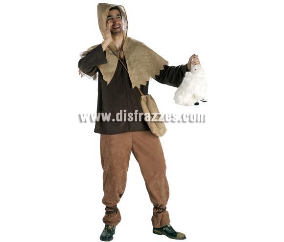 Disfraz de Mercader Medieval para hombre. Talla Standar. Incluye pantalón, casaca, capucha y bolsa.
