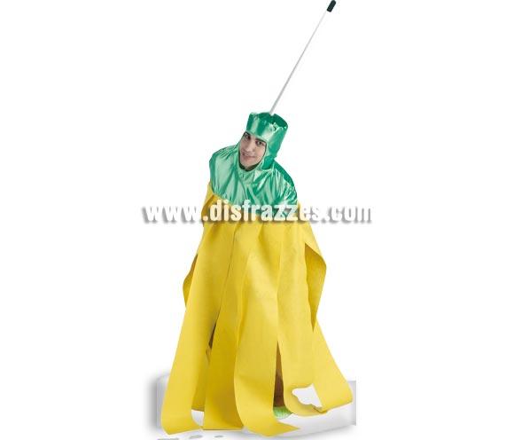 Disfraz de Fregona o mocho para adultos. Talla única de adultos. Incluye disfraz de una pieza sin el palo.
